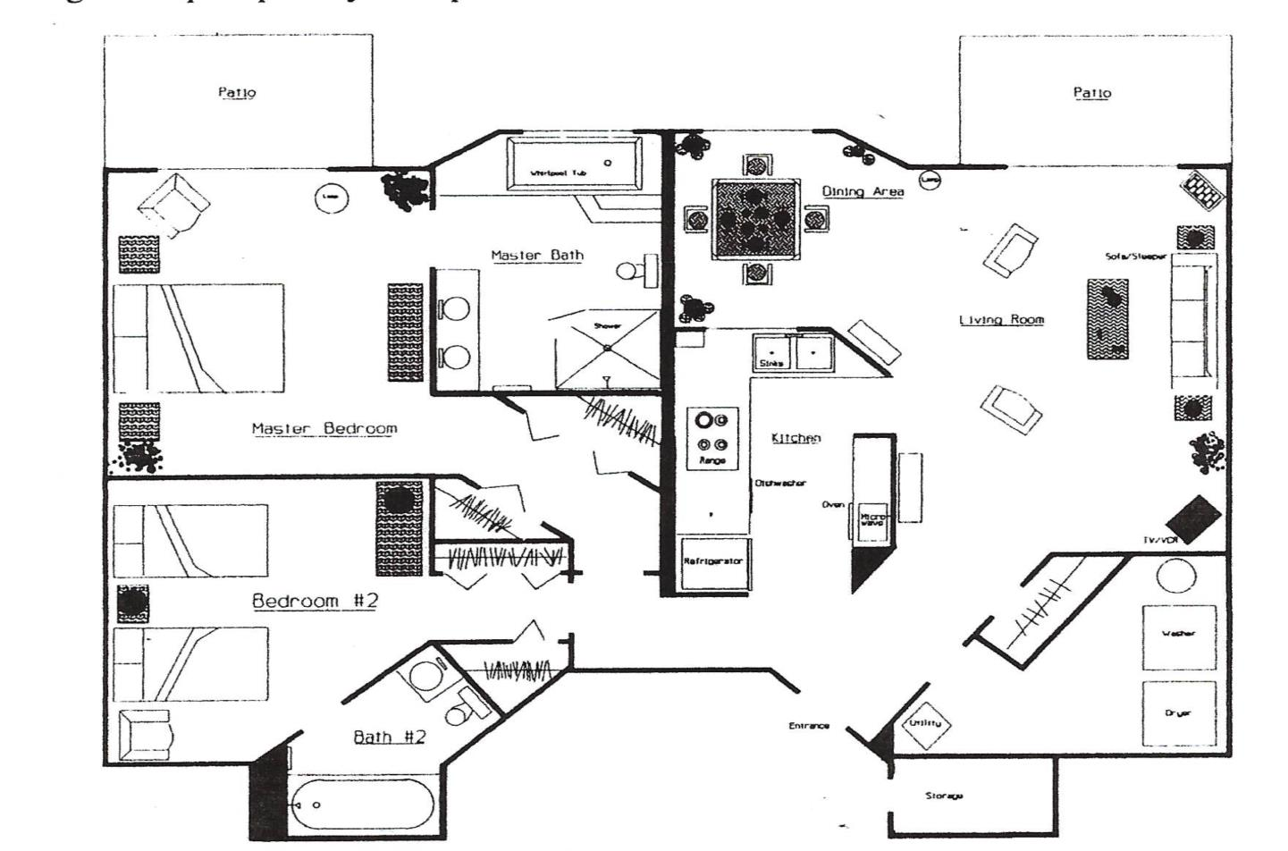 One level floorplan