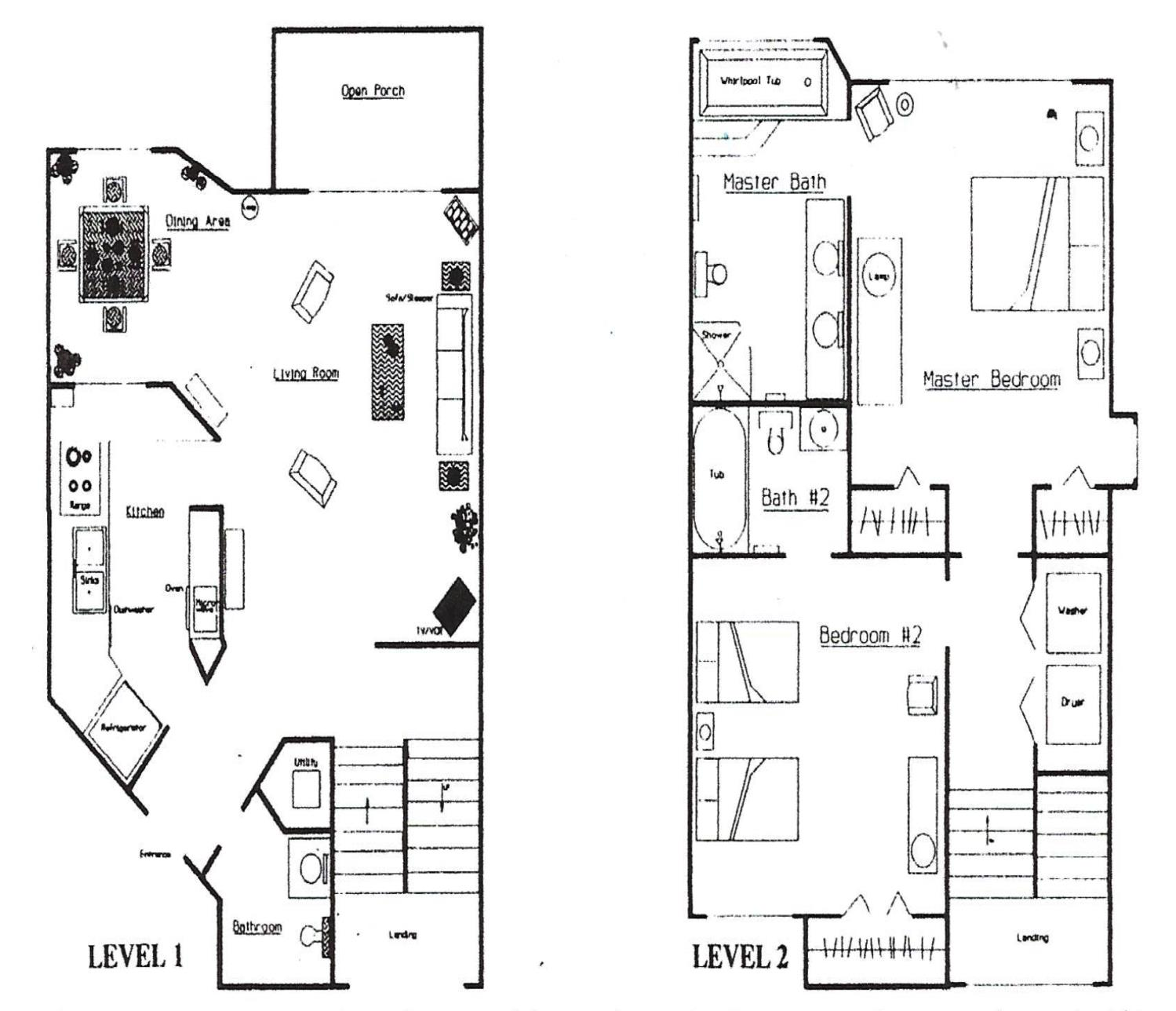 Two story floorplan
